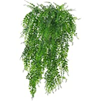 2PCS Green Artificial Plant Vines Wall Hanging Fake Leaves Plant Simulation Orchid Fake Flower Rattan for Home Garden…