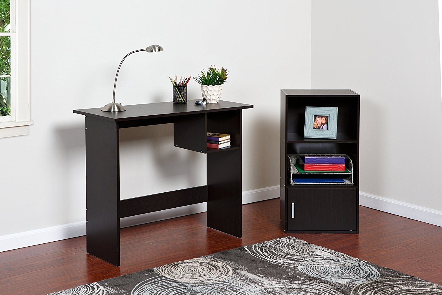 Indoor Multi-function Accent table Study Computer Home Office Desk Bedroom Living Room Modern Style End Table Sofa Side Table Coffee Table Modern Desk