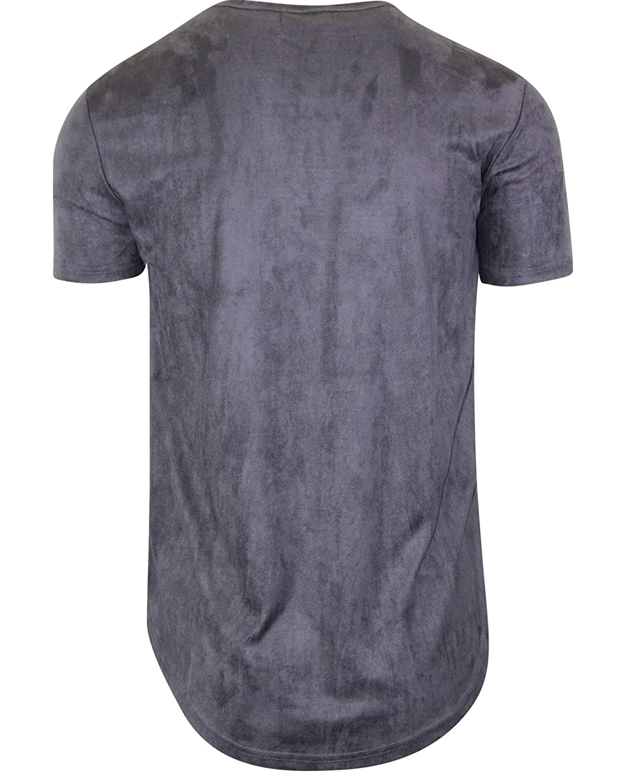 bb8574a34d95 ShirtBANC Moto Suede Mens Hipster Hip Hop Long Drop Tail T Shirts |  Amazon.com
