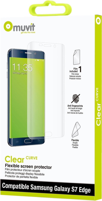 Muvit MUTPG0113 - Protector de pantalla (Protector de pantalla, Teléfono móvil/smartphone, Samsung, Galaxy S7 Edge, Resistente a rayones, Transparente): Amazon.es: Electrónica
