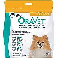 Oravet Dental Hygiene Dog Chews, 28 count, Orange, XS