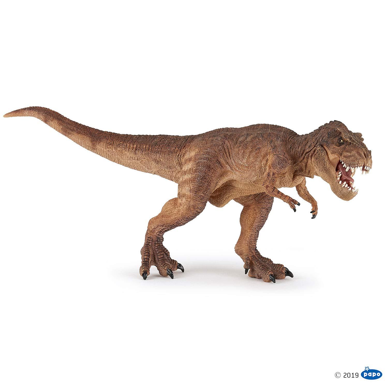 Papo 55075 Brown Running T-rex Marrón