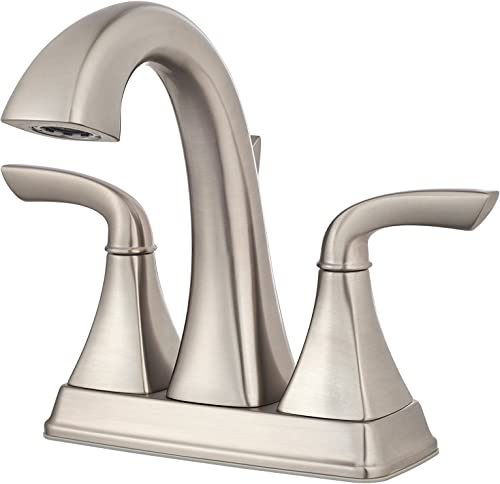 Pfister LG48-BS0K Bronson 2-Handle Centerset Bathroom Faucet, 4 , Brushed Nickel