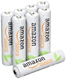 AmazonBasics AAA Pre-Charged Rechargeable Batteries 800 mAh / minimum: 750 mAh [Pack of 8] - Outer Jacket May Vary