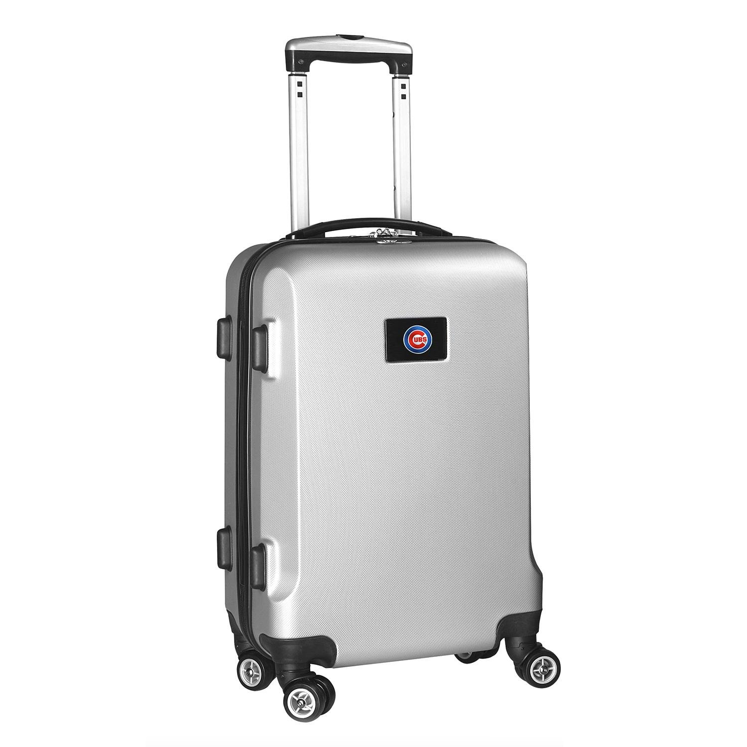 MLB Chicago Cubs Carry-On Hardcase Spinner, Silver by Denco