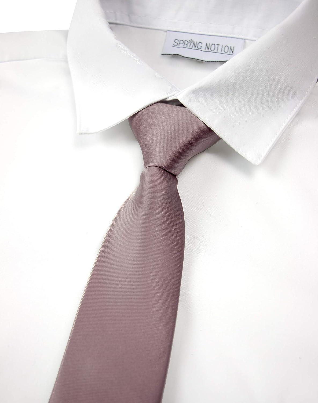 Spring Notion Boys Solid Color Microfiber Zipper Tie