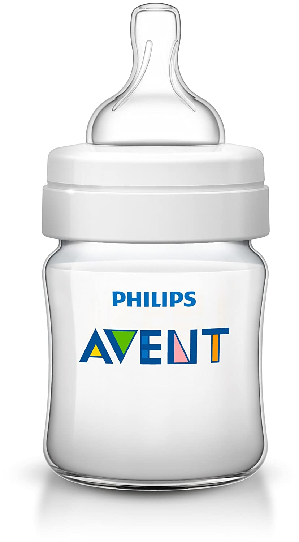 Philips Avent SCD374/01 - Set regalo Classic+ con biberones de 125 ml, 260 ml y dos chupetes de 0 a 6 meses, anticólico, diseño animales