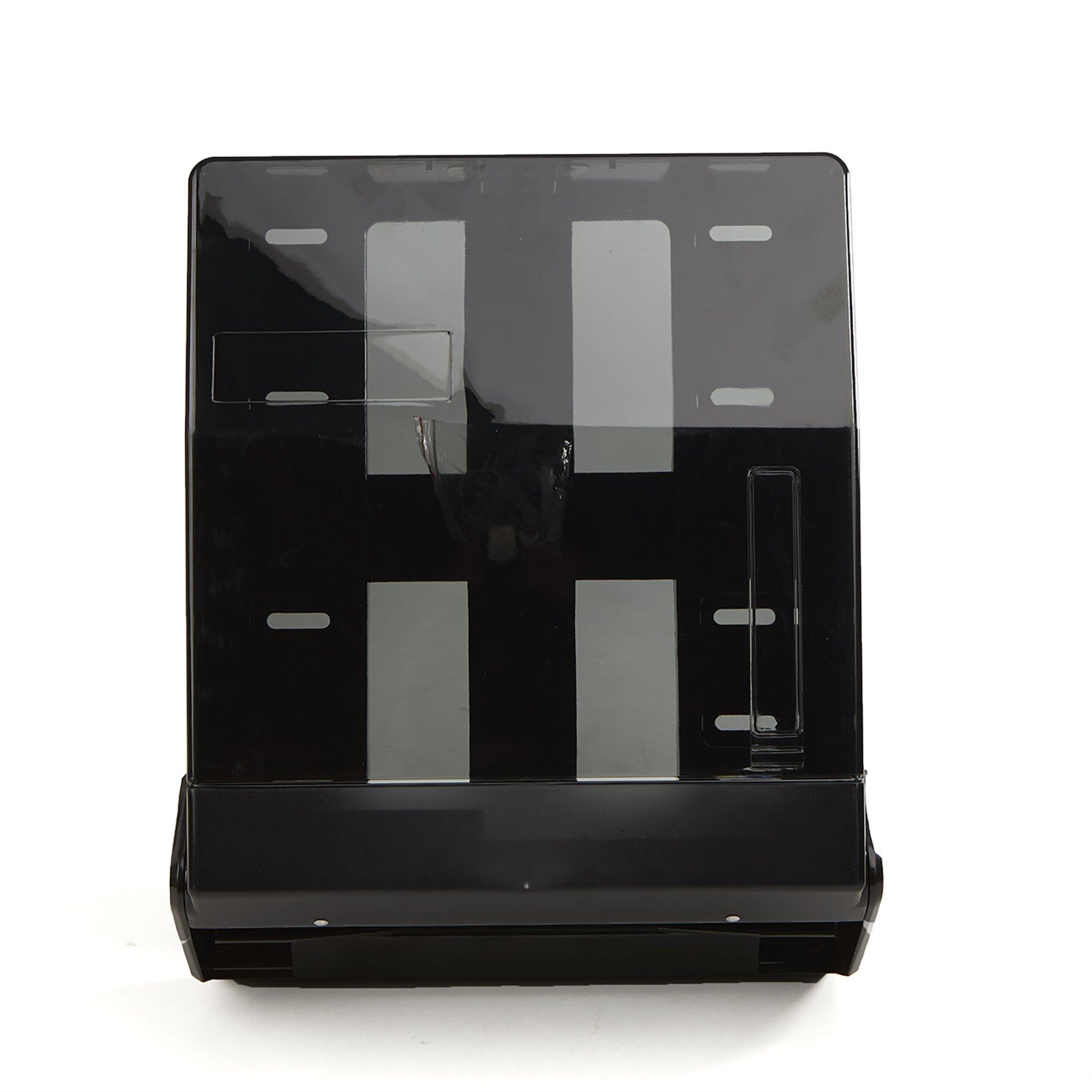 Mind Reader Translucent C-Fold or Multifold Paper Towel Dispenser, Paper Towel Holder, 5'' L x 11.25'' W x 13.75'' H