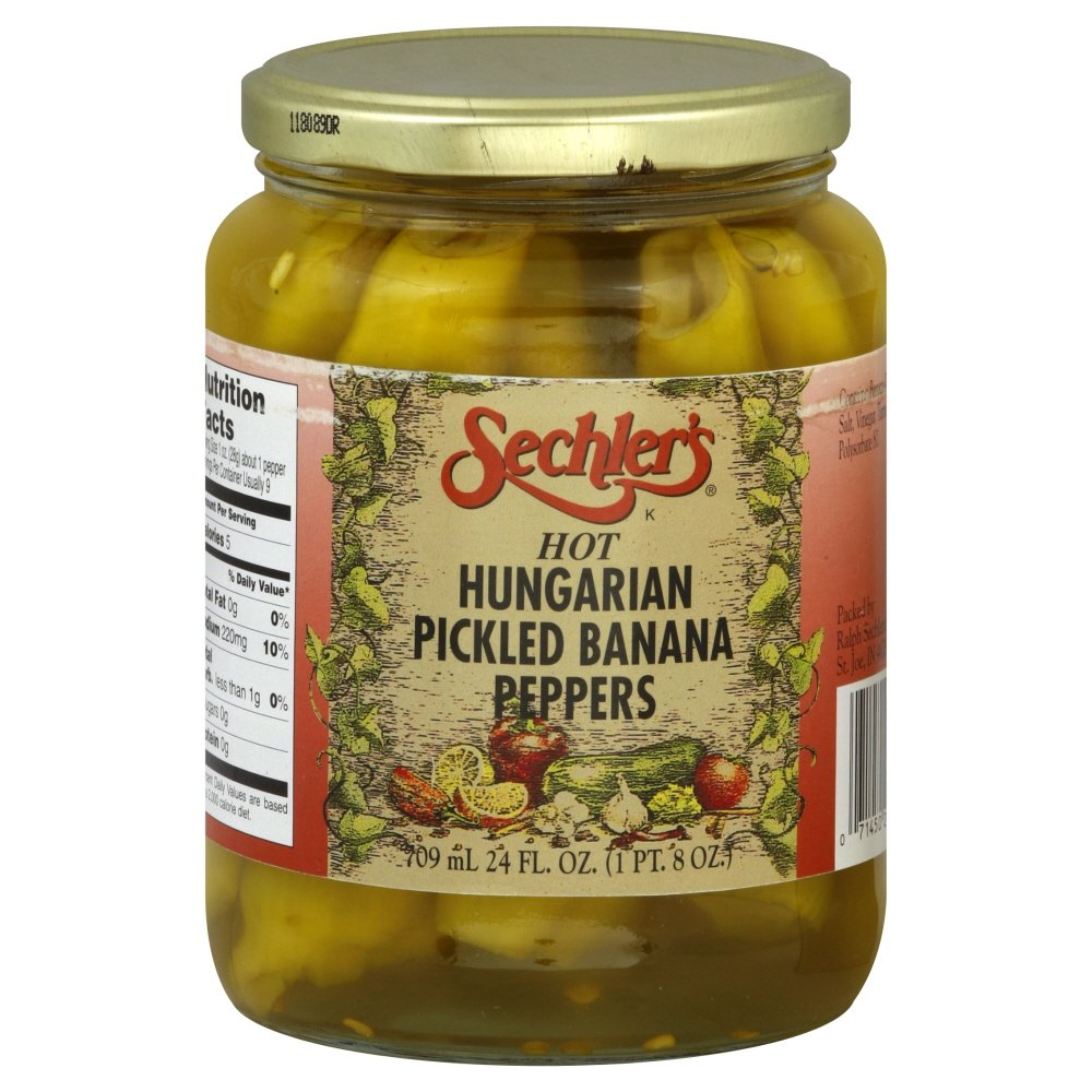 Sechler's Hot Hungarian Peppers Whole 24.0 OZ (Pack of 2)