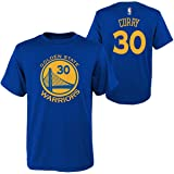 OuterStuff Golden State Warriors NBA Stephen Curry Youth Flat Basic Name & Number Tee