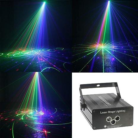 Led luces de la etapa de sonido activado las luces del proyector ...