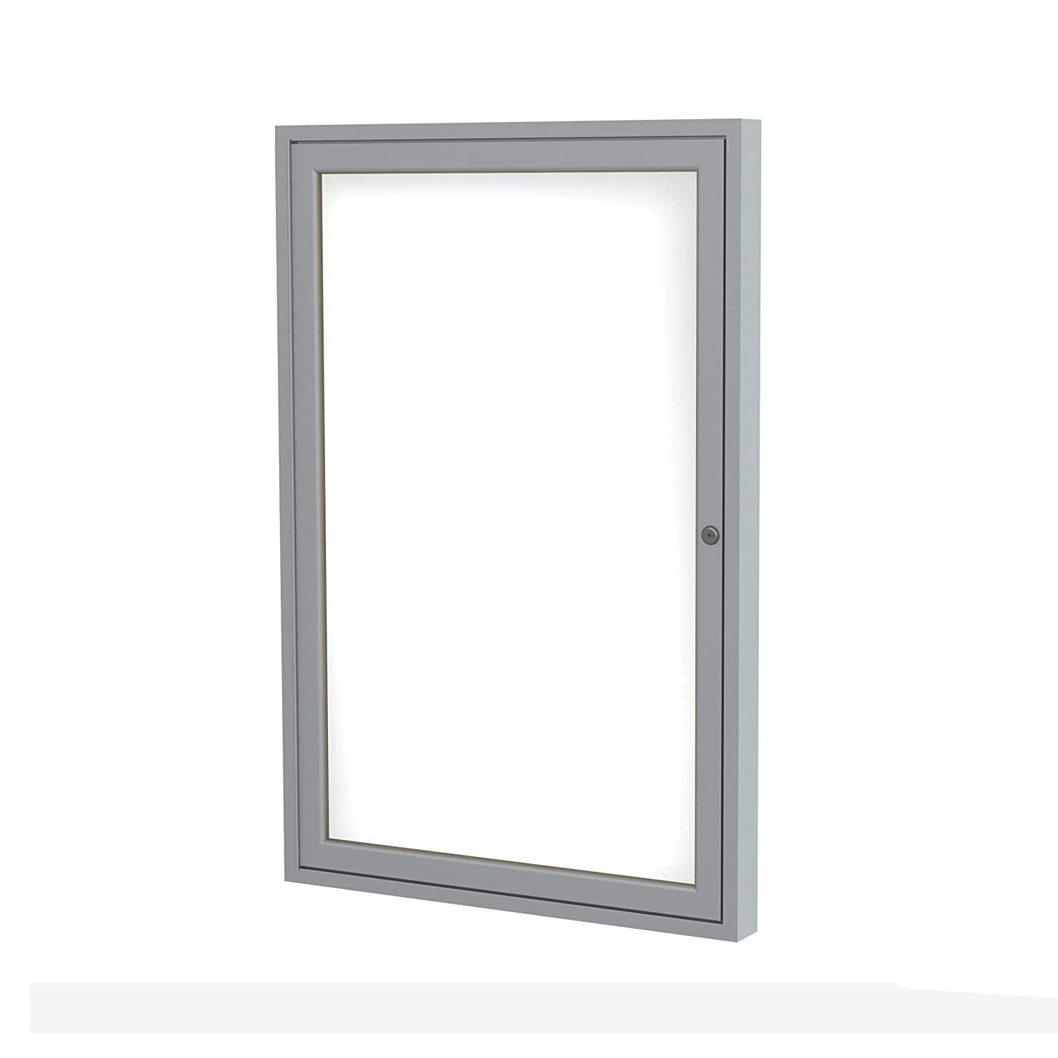 1 Door Enclosed Magnetic Whiteboard Frame Finish: Satin, Size: 3' H x 3' W