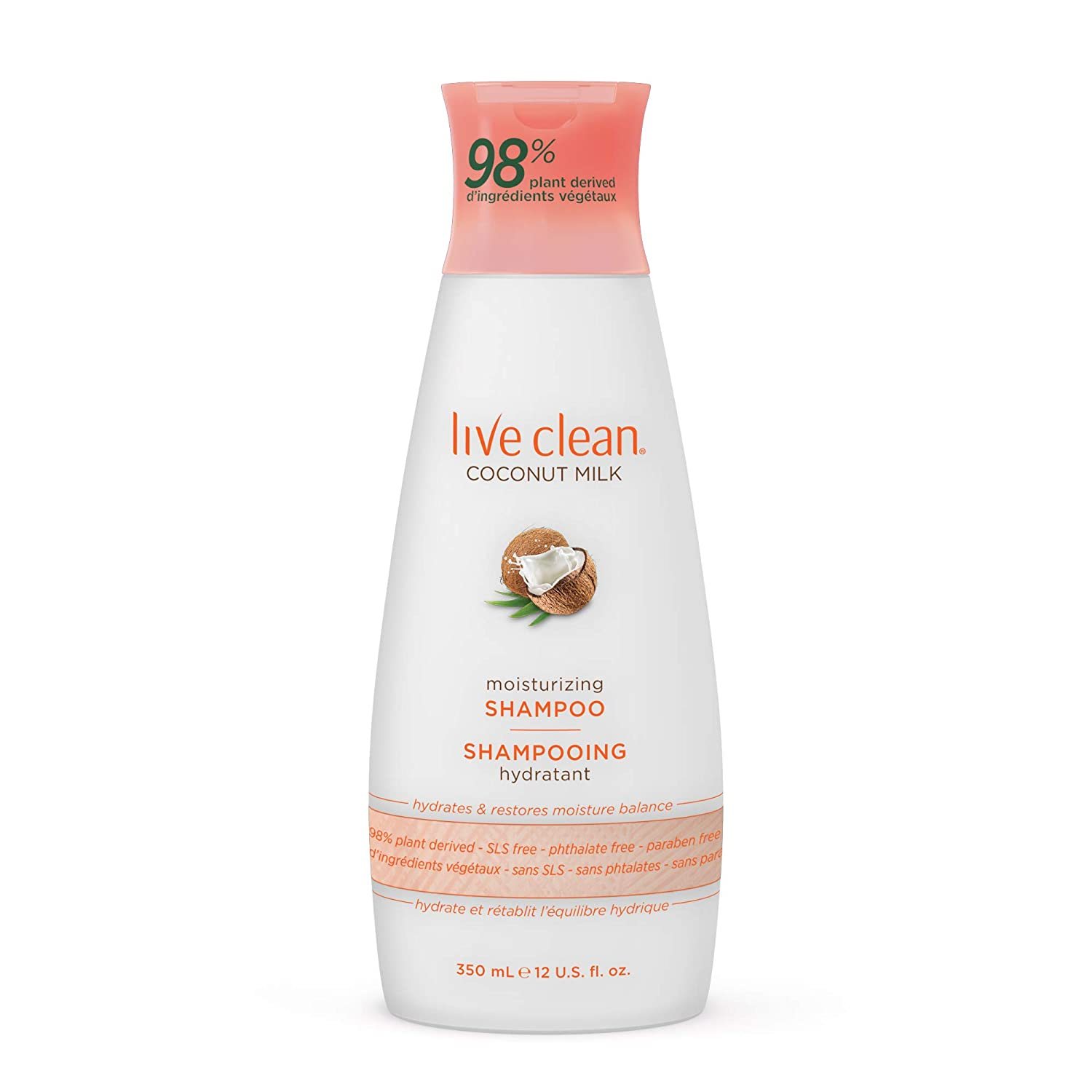 Live Clean Coconut Milk Moisturizing Shampoo, 12 oz.