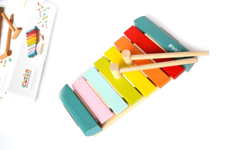 Montessori Toy Wooden Rainbow Xylophone Wooden Xylophone Organic Baby Toy Music Toy Nursery Decor