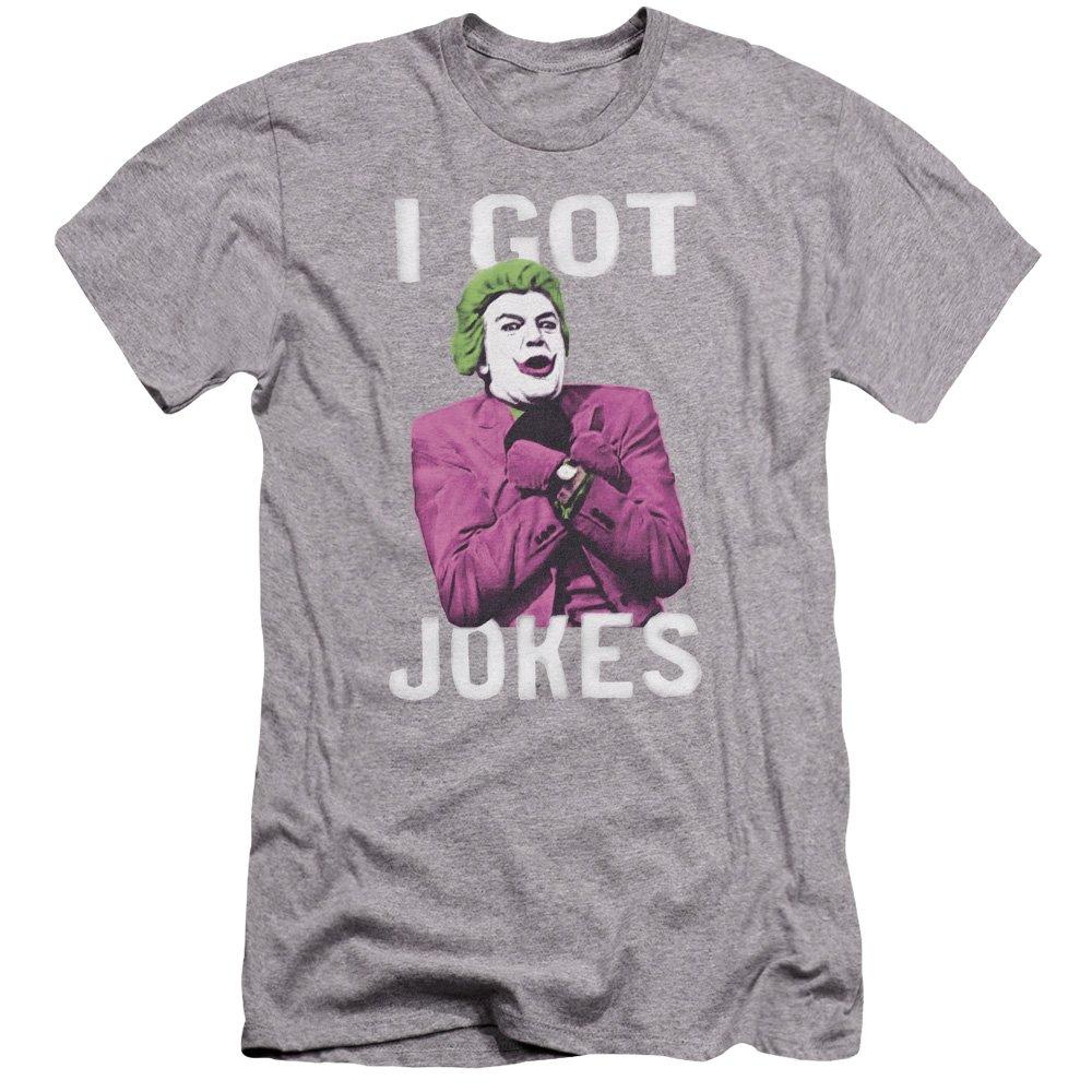 Batman Classic Tv Got Jokes Premium Adult Slim Fit T-Shirt