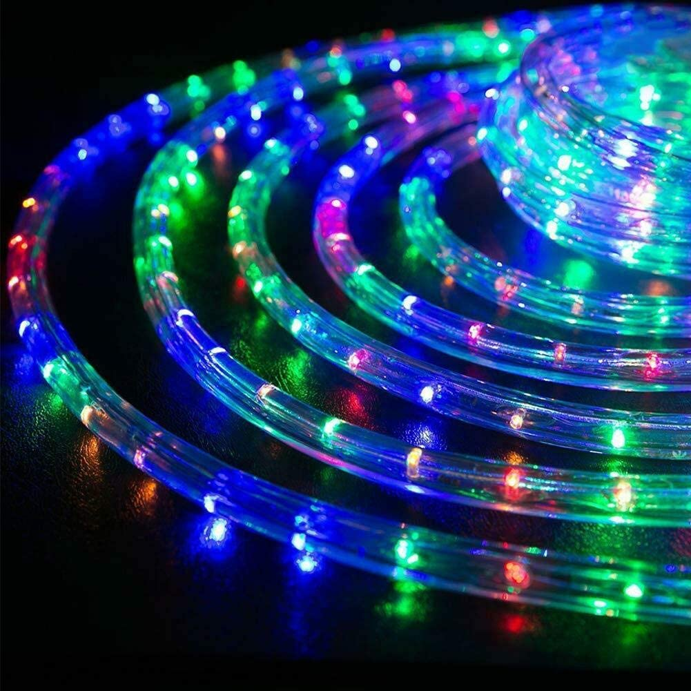 Amazon Com Ambaret Led Rope Lights Twinkle Battery Operated String Lights 40ft 120 Led Fairy Light 8 Color Changing Waterproof Strip Light For Bedroom Garden Outdoor Party Decoration Multi Color Home Improvement