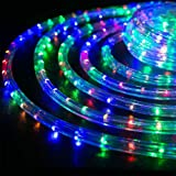Ambaret LED Rope Light Twinkle Battery Operated String Lights 40Ft 120 LED Fairy Light, 8 Color Changing Waterproof Strip Lig