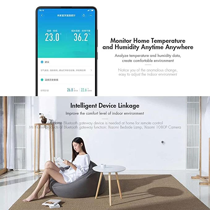 Amazon.com : Aolvo Digital Hygrometer Indoor Thermometer, Bluetooth Wireless APP Control Accurate Temperature Humidity Monitor Meter for Home, ...