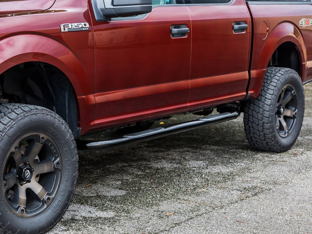fits Double Cab Rocker Mount, Stainless Ionic 3 1999-2018 Chevy Silverado GMC Sierra Only Nerf Bars Side Steps