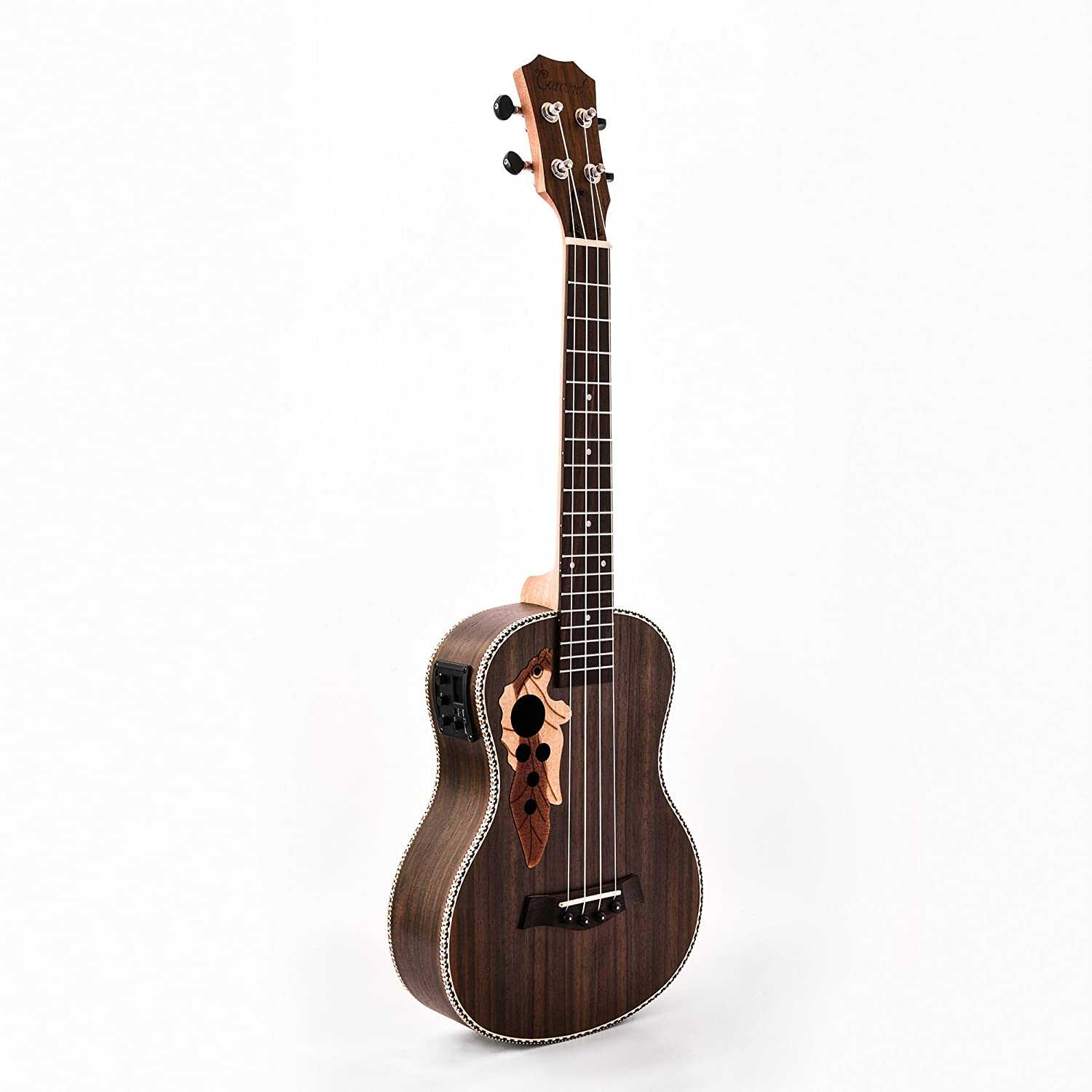 4. Caramel CB500 30 Inch All Rosewood Baritone Acoustic-Electric Ukulele