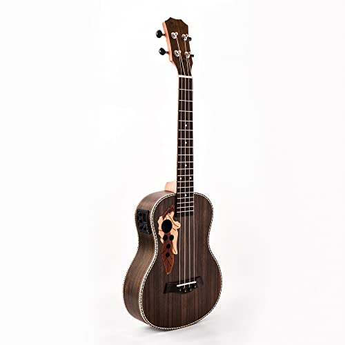 Caramel CB500 30 Inch All Rosewood Baritone Acoustic Electric Ukulele With Truss Rod