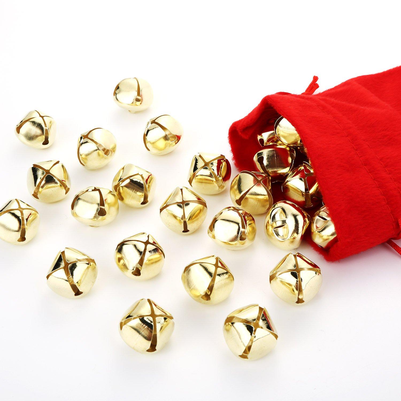40 Pieces Craft Bells Jingle Ringing Bells Bulk Bells for Holiday DIY Crafts 1 Inch