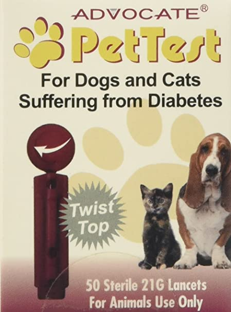 PetTest Advocate 21G Twisttop Lancets - 50 Count for Dogs and Cats