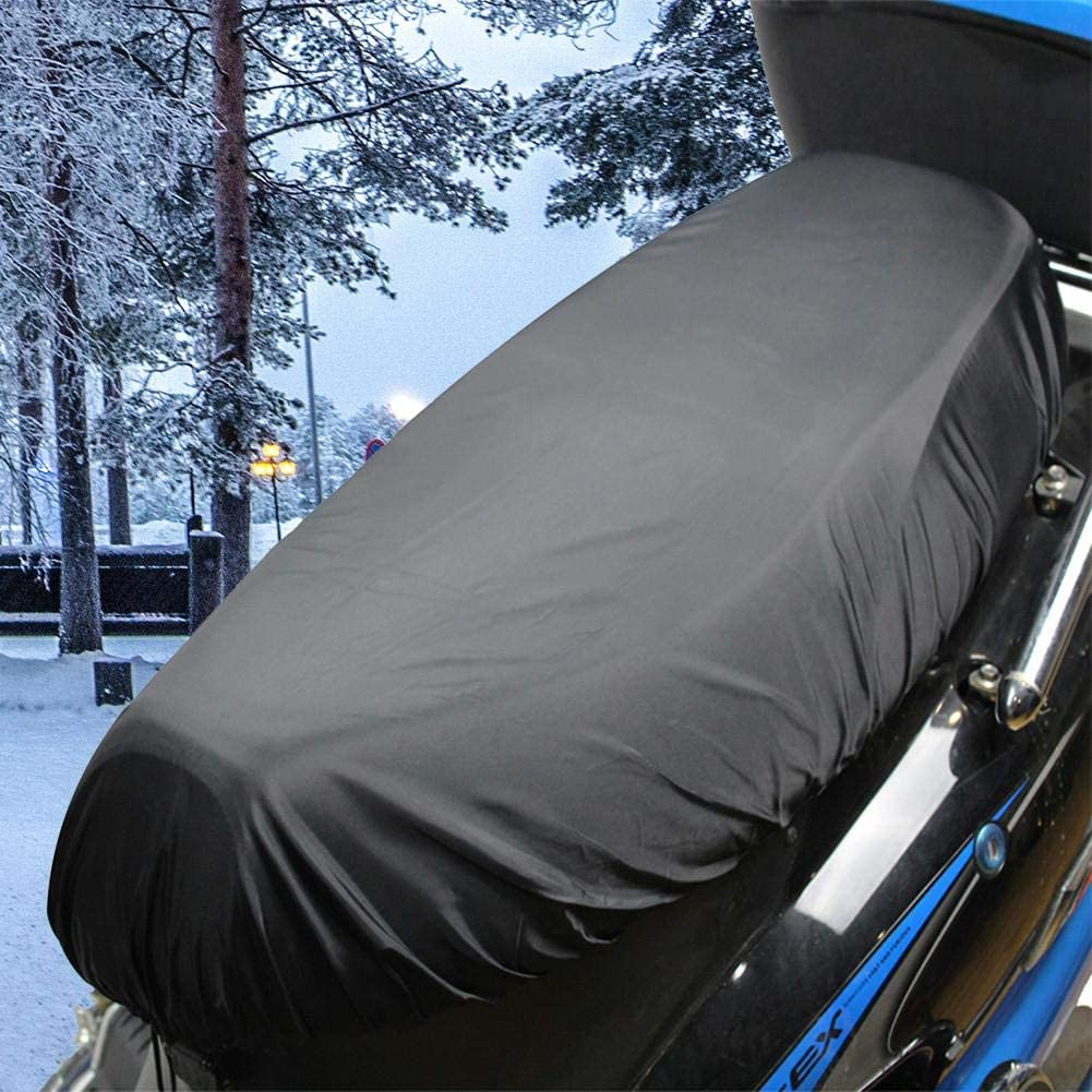 Luckyx Universal Waterproof Motorcycle Seat Cover All Season Flexible Protection Seat Cover Fits Most Scooter Moped Sport Adventure Touring Cruiser Motorcycle