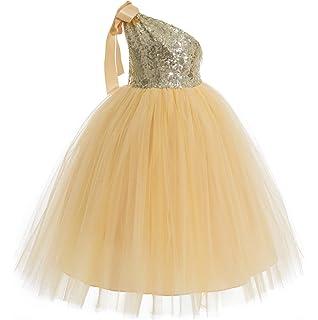 79bfc595d3df0 ekidsbridal One-Shoulder Sequin Tutu Flower Girl Dress Wedding Pageant  Dresses Ball Gown Tutu Dresses