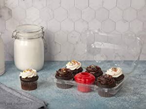 Fresco Baked Goods Preserver - Fits Most Cake, Cupcake & Muffin Containers - Moisture Keeper for Loaf, Rolls, Cookies, Baking - Non-Spill, Food-Grade, Keeps Bread Fresh & Moist - Food Freshness Saver