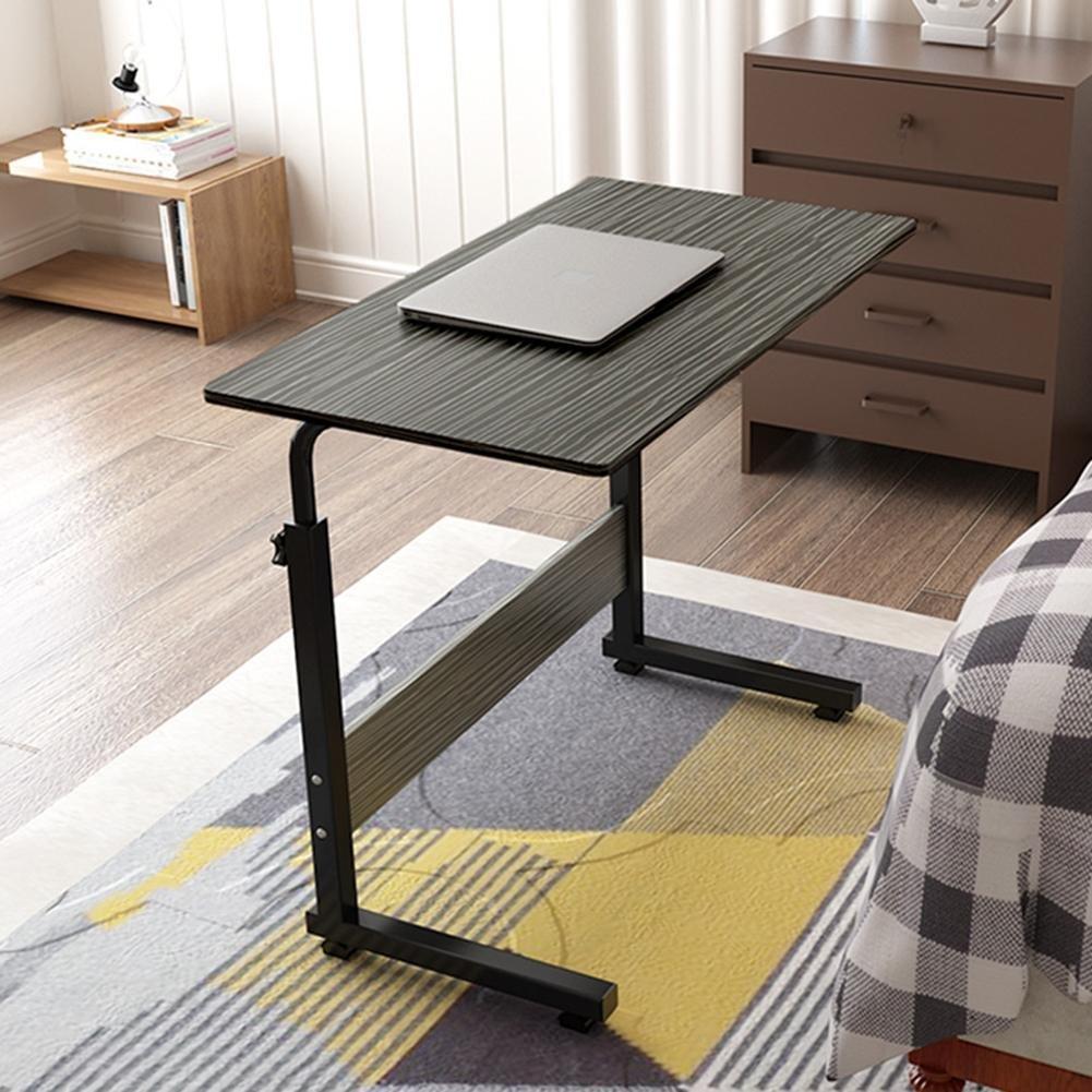 Lift Computer Desk Adjustable Height Mobile Desk Mini Side Length 60/80 Width 40/50 High 65-86cm, c gold drawing 80 * 50 L&LQ
