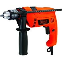 Black+Decker 650W 13mm Corded Electric Hammer Percussion Drill for Metal, Concrete & Wood Drilling, Orange/Black…