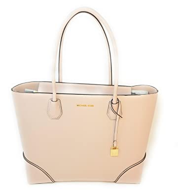 Image Unavailable. Image not available for. Color  Michael Kors Mercer  Gallery Large East West Top Zip Tote Leather (Soft Pink) 829f575d68032