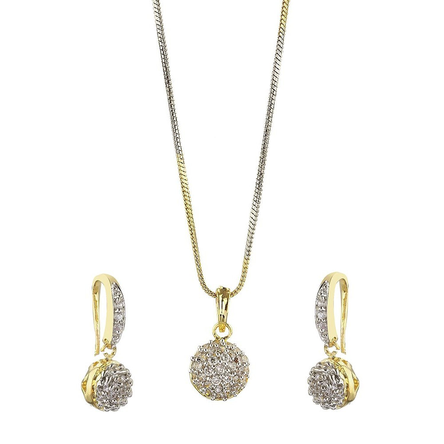 YouBella Gold-Plated Dangle & Drop Necklace & Earring Jewellery ...