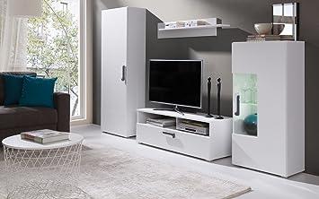 Home Direct Mia Modernes Wohnzimmer, TV Möbel, Wohnzimmerschränke, Möbel,  Weiß (