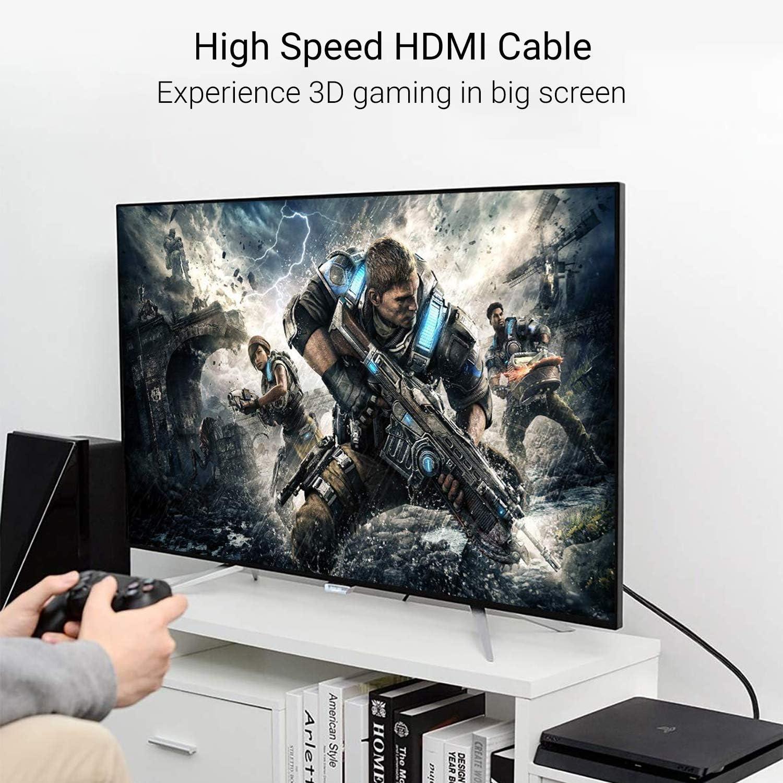 ULTRICS 4K Cable HDMI 1M, HDMI Cable 2.0 Trenzado de Nylon, Ethernet de 18Gbps y Cable de Retorno de Audio con Conectores Enchapados en Oro Compatible con Juegos Xbox, Full HD 1080p