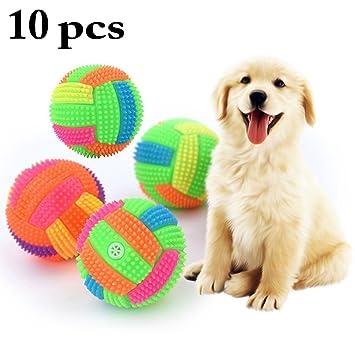 Legendog Pelota De Perro De Juguete Ilumina La Pelota Bola Squeaky Interactiva Intermitente Elástica (Color Aleatorio): Amazon.es: Productos para mascotas