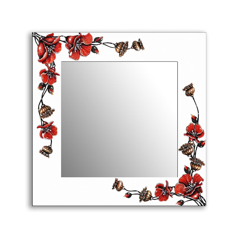 Ramix Magnifique Miroir d/écor/é /à la Main mod/èle: Blanc et Argent Cadre d/écoratif 3D 100//20mm 50//100cm