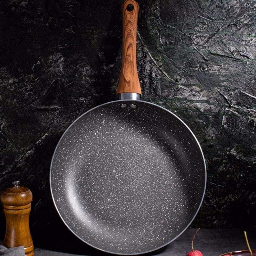 Fornello Pan Maifan Pietra Pot antiaderenti Pancake bistecca alla griglia Pot domestica Fornello a gas Pentola, 28cm pentole titanio puro FEOPW (Color : 28cm) 24cm