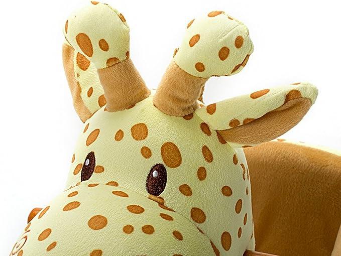 - Jaune Girafe 6-36 Mois Promenade Sur Les Jouets Rockers Avec Roues Pour Les Tout Petits Enfants Petits Gar/çons et Filles Hessie Cheval /à Bascule Moderne en Peluche Avec Animal Mou