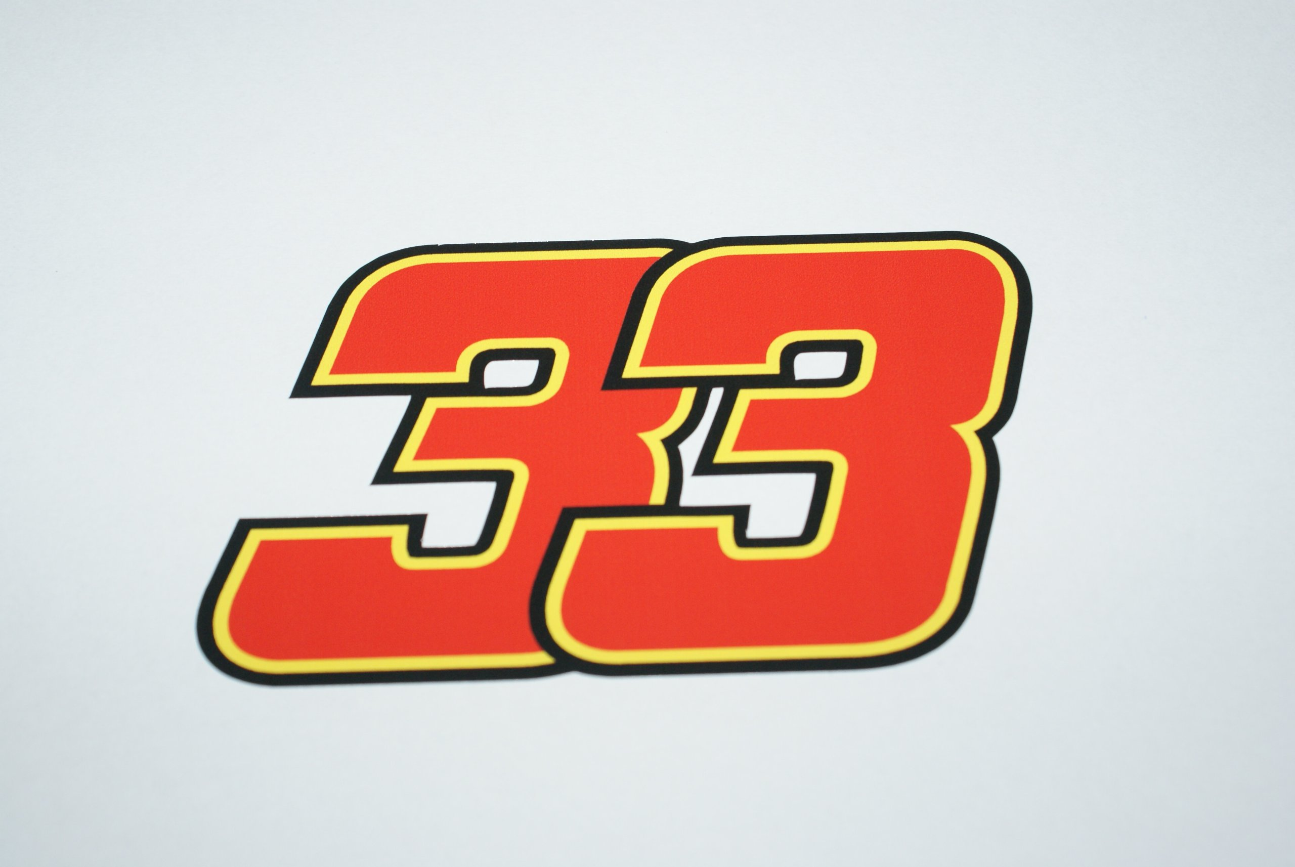 Rapro Graphics Marco Melandri Number 33 Decal/Sicker 2010