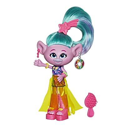 DREAMWORKS TROLLS Glam Satin Fashion Doll with Dress, Shoes, and More, Inspired by The Movie Trolls World Tour, Toy for Girl 4 Years and Up: Toys & Games