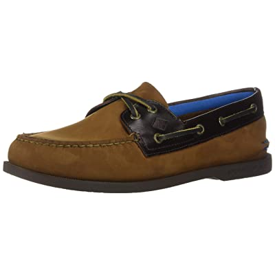 Sperry Men's A/O 2-Eye Plush Boat Shoe, Brown/BUC Brown, 7 M US | Loafers & Slip-Ons