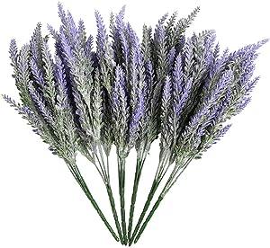ATPWONZ 6 Bundles Artificial Lavender Plant with Silk Lavender Flowers Lavender Bouquet for Wedding Decor, Table Centerpieces, Home, Garden, Patio Decoration