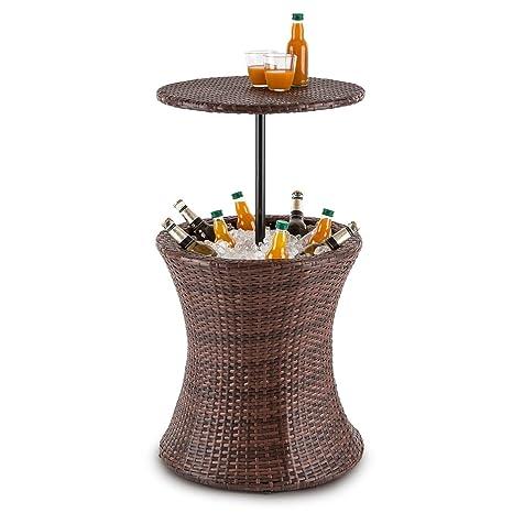 Blumfeldt Beerboy Table De Jardin Avec Bassine A Glacons Pour