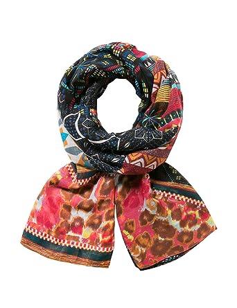 756ecd8ef6141 Desigual Women's Printed 100% Polyester Foulard Misha, red One Size at  Amazon Women's Clothing store:
