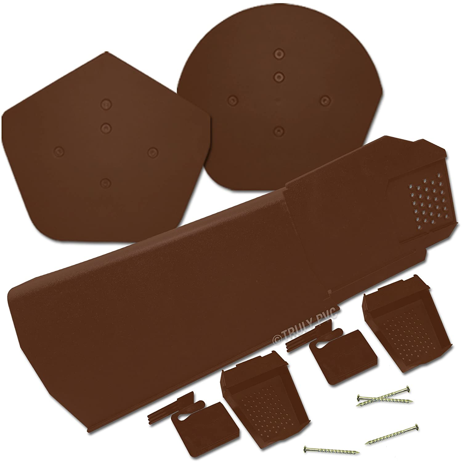 Complete Kit of 24 x Brown Klober Uni-Click Dry Verge Units + Domed Apex End Closure + Starter Pack - Kit sizes 10 to 40 Available