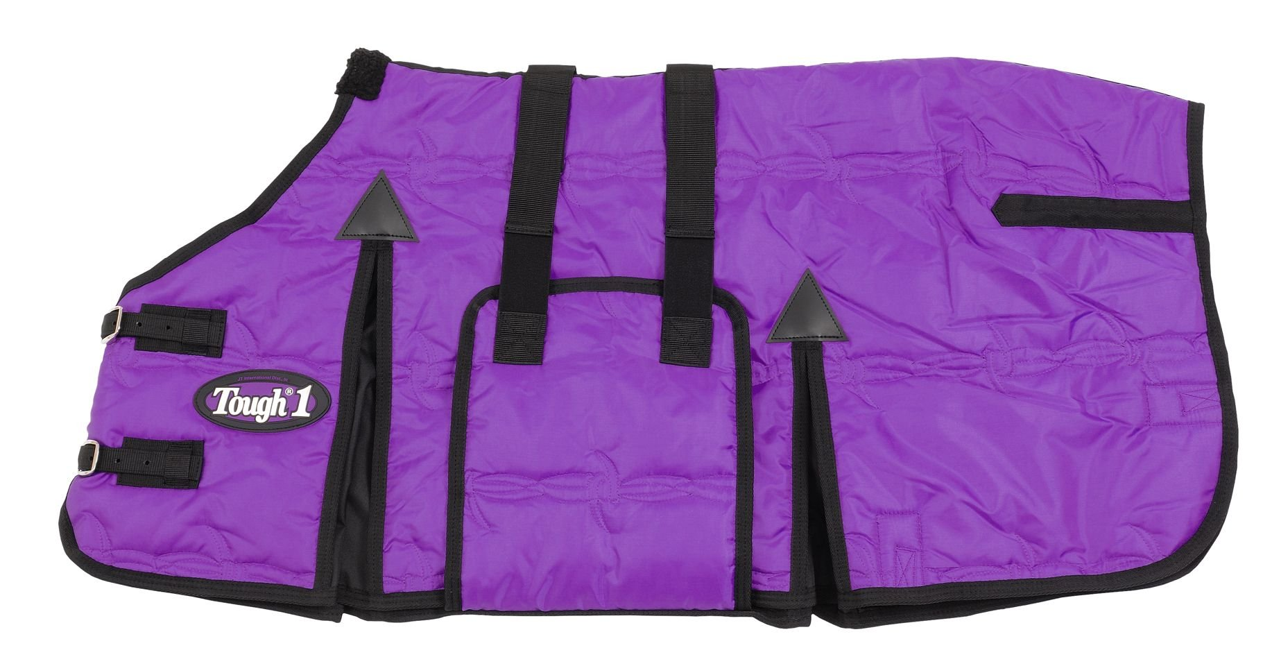 Tough 1 600D Miniature Stable Blanket with Belly Wrap, Purple, 39-Inch