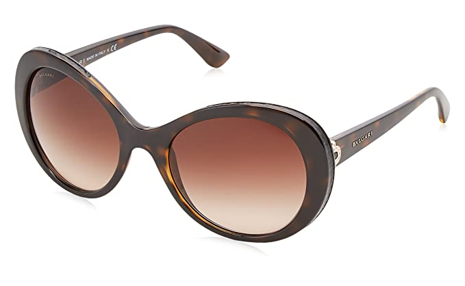 Bulgari BVLGARI Damen Sonnenbrille 0BV8172B 53928G, Pink (Top Violet On Pink Crystal/Grey Gradient), 58