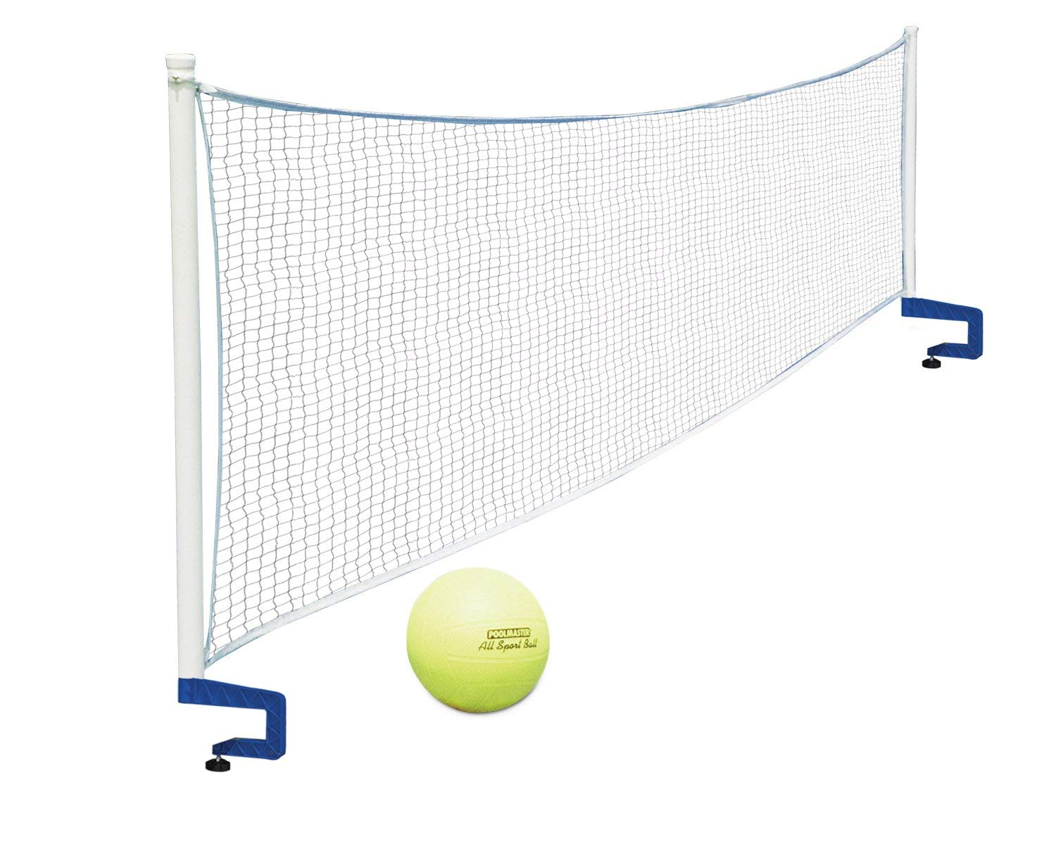 Poolmaster 72786 Above-Ground Mounted Poolside Volleyball / Badminton Game with Bracket Mounts (Renewed) by Poolmaster
